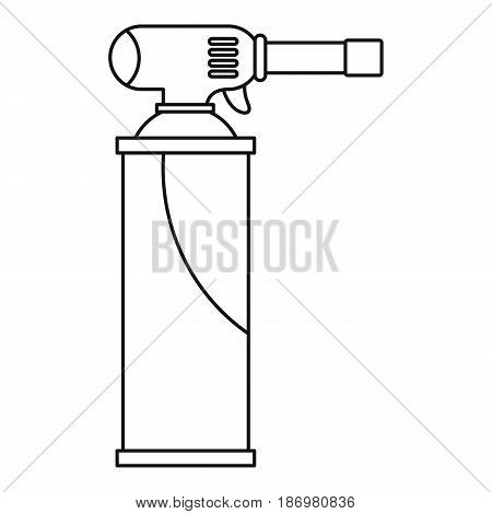 Gas cylinder icon in outline style isolated vector illustration