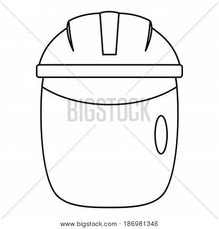 Glass welding mask icon in outline style isolated vector illustration