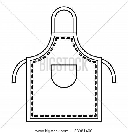 Welding apron icon in outline style isolated vector illustration