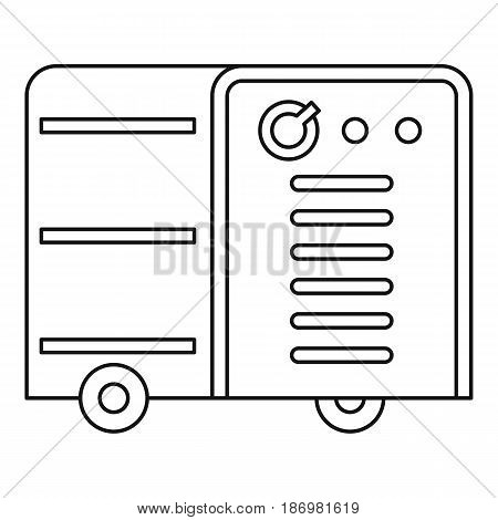 Inverter welding machine icon in outline style isolated vector illustration