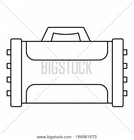 Welding machine icon in outline style isolated vector illustration