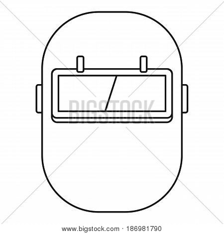 Welding mask icon in outline style isolated vector illustration