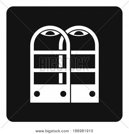Shop security anti theft sensor gates icon in simple style isolated vector illustration