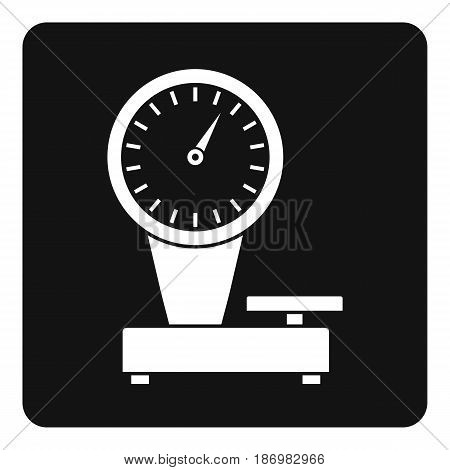 Weight scale icon in simple style isolated vector illustration