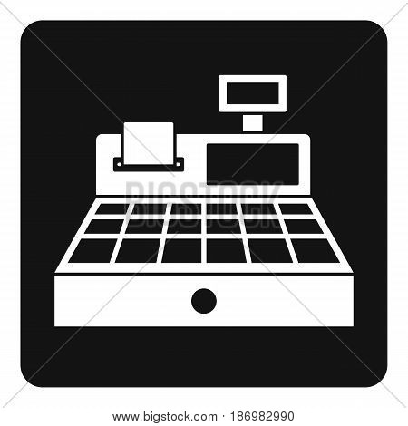 Sale cash register icon in simple style isolated vector illustration
