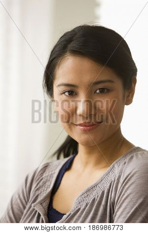Smiling Asian woman