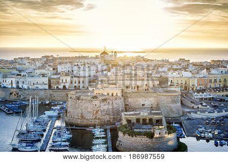 Panorama Of Beautiful Gallipoli, Puglia, Italy