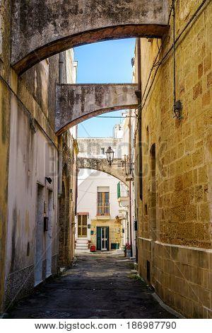 Charming Street Of Gallipoli, Italy