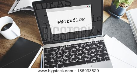 Workflow Hashtag Window Graphic Word