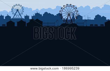 Background amusement park beauty scenery vector illustration