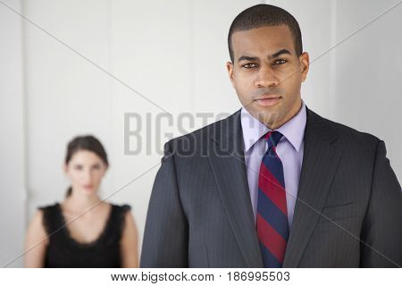 Serious Black businessman