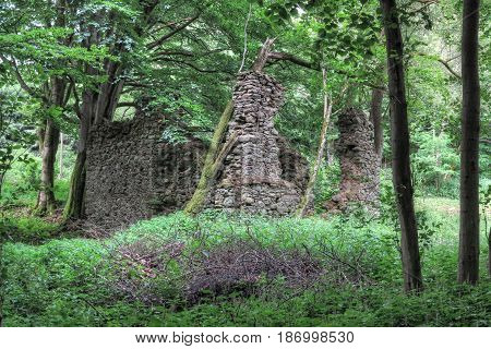 Old ruins of the church Saint Apollonia - built around 1670 Czech republic
