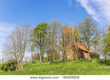 Medieval Church In Historic Village Oostum