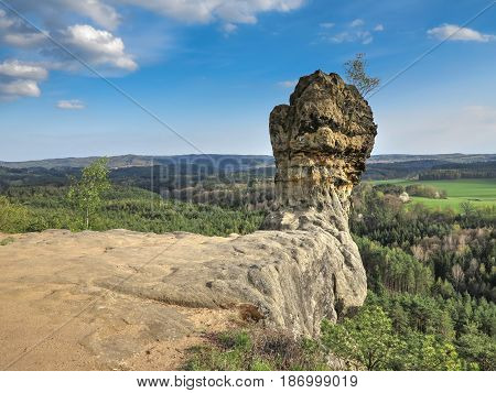 Capska cudgel - rock formation on a rocky promontory