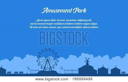 Collection stock of amusement park scenery vector art