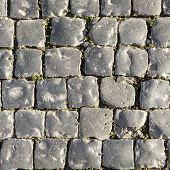 background of harmonic cobble stones in grey poster