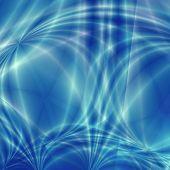 Blue fantasy liquid background poster