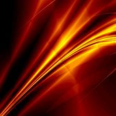 Hot abstract rays on dark background poster