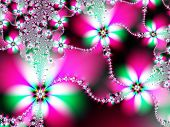 Fractal image of a spring daisy chain. poster