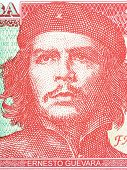 Ernesto Che Guevara portrait from Cuban money poster