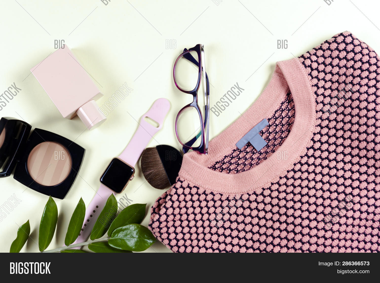 68fec0f7 Fashion women clothing set and accessories. Vanilla Pastel colors. Summer  street style. Trendy glasses, top, perfume, powder, watches, flowers.  Summer lady.
