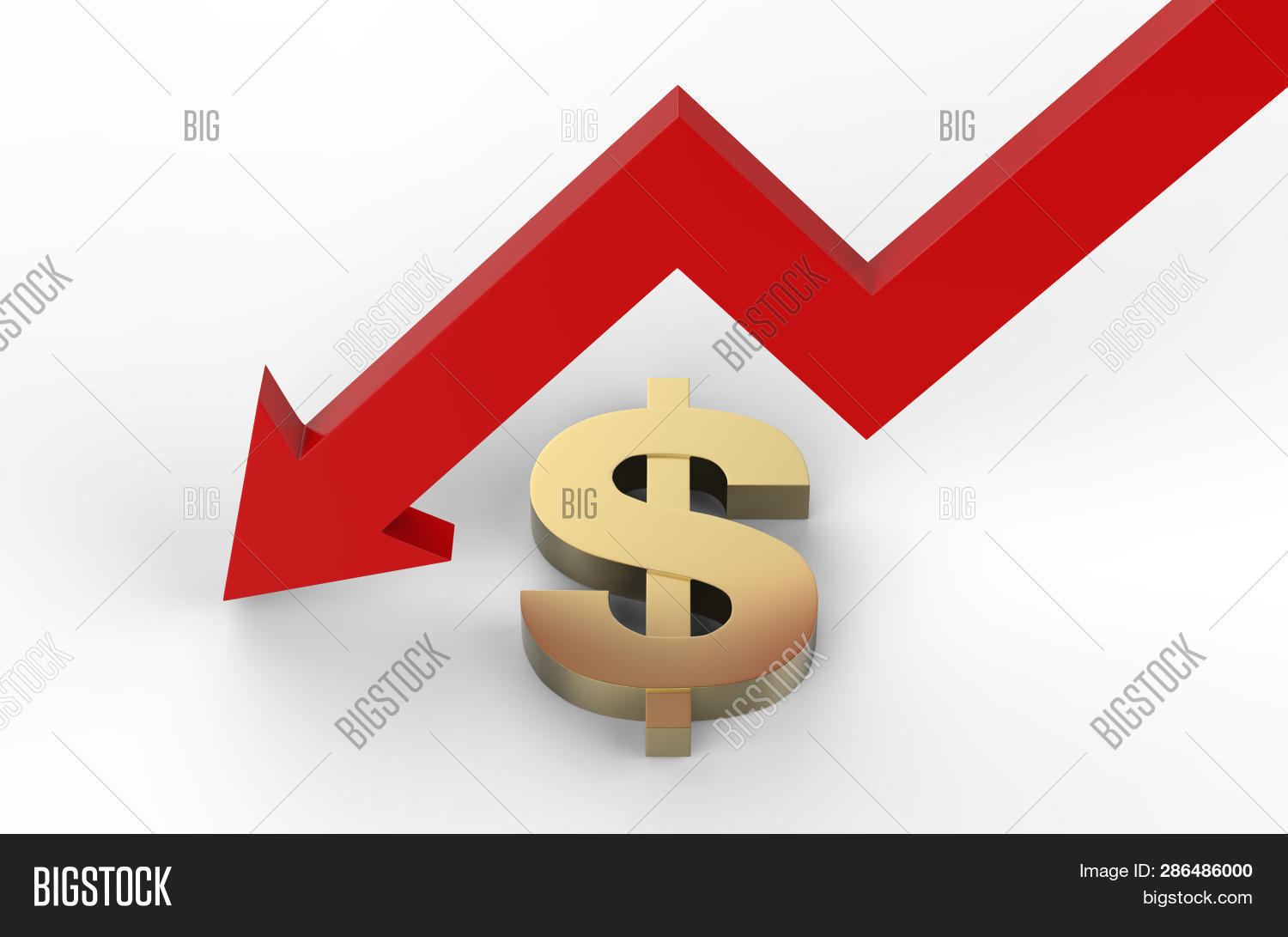 Decrease Dollar Value Image Photo