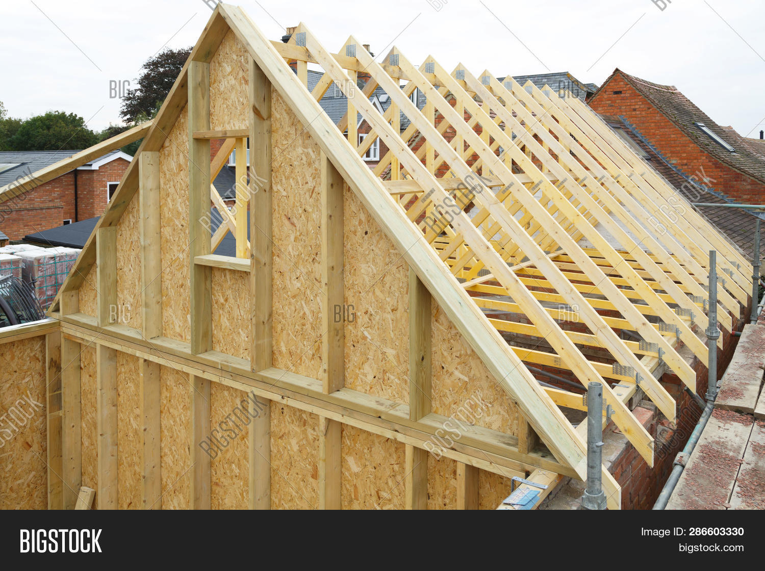 Gable Wooden Roof Image Photo Free Trial Stock