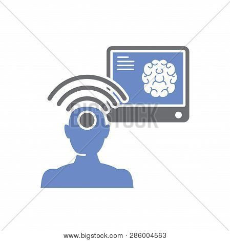Telepathy Icon On White Background For Graphic And Web Design, Modern Simple Vector Sign. Internet C