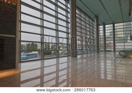 Interior Of A Lobby Of The Office Building