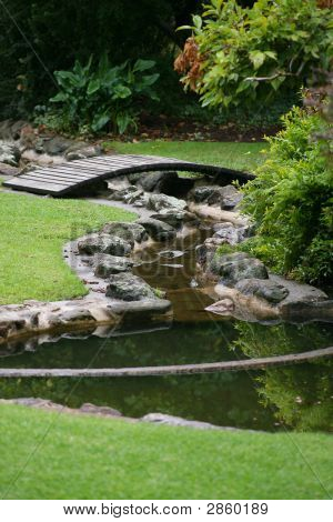 Water Feature At The Albury Botanic Gardens