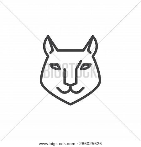 Lynx Head Line Icon Vector Photo Free Trial