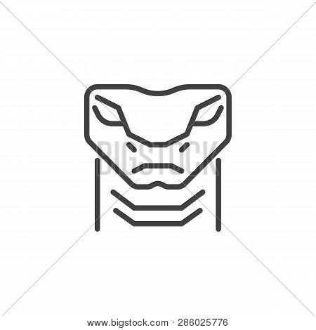 Viper Snake Head Line Vector & Photo (Free Trial) | Bigstock