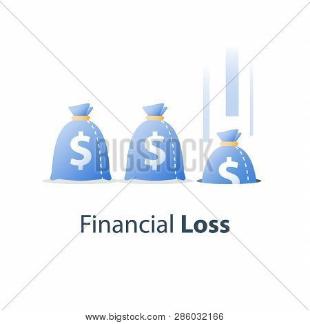 Sunken Cost Concept, Money Loss, Debt Increase, Lack Of Finance, Stock Market Fall, Investment Hedge