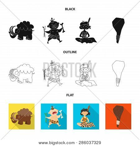 Vector design of evolution  and prehistory sign. Collection of evolution  and development  stock vector illustration. poster
