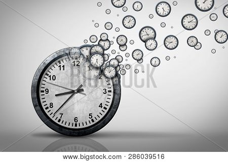 Business Time Plan Concept And Planning Corporate Or Personal Schedule Or Wasting Minutes As A Group