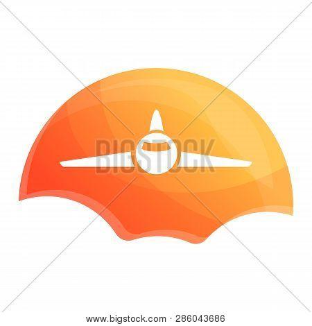 Sunrise Air Plane Icon. Cartoon Of Sunrise Air Plane Vector Icon For Web Design Isolated On White Ba