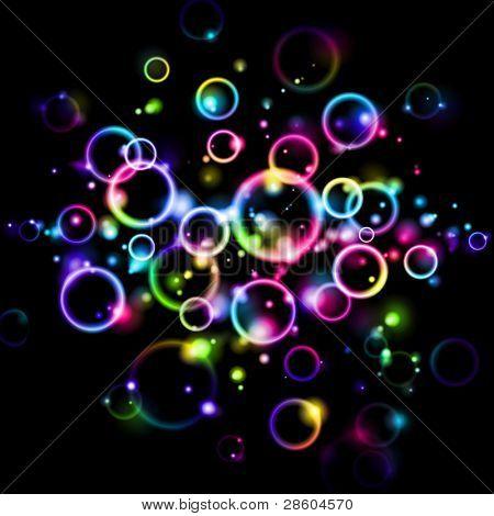 gökkuşağı vektör balonlar