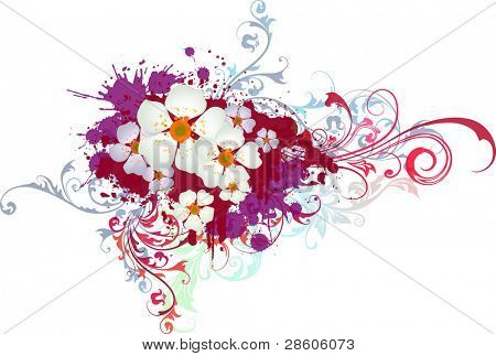 Grange vector flower composition