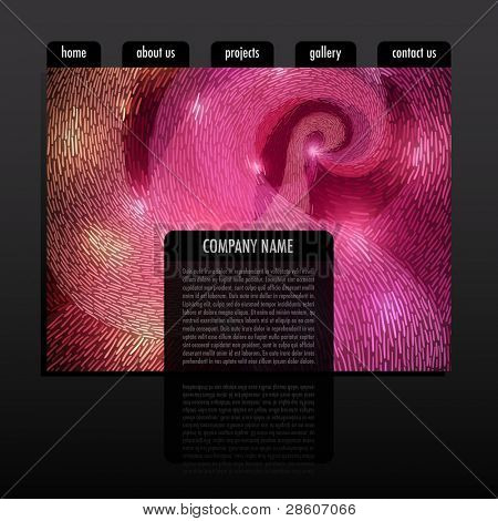 Website design template, vector eps10
