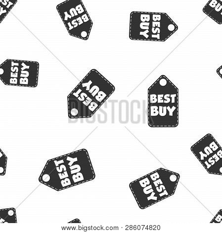 Best Buy Hang Tag Seamless Pattern Background. Business Flat Vector Illustration. Best Buy Shopping