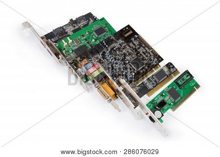 Different Used Controllers For Various Purposes And Multimedia Cards Implemented As Internal Expansi