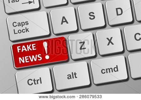 Keyboard With Fake News Button