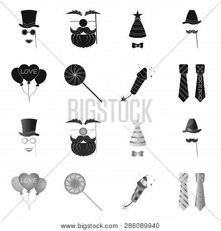 Vector Illustration Of Party And Birthday Icon. Collection Of Party And Celebration Stock Vector Ill