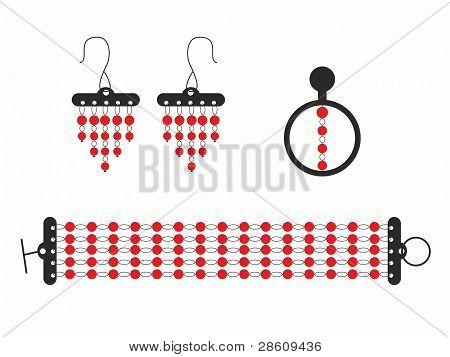 Stylized set of jewelry