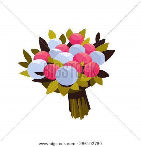 Bouquet Of Peony Flowers 8 March Happy Womens Day Concept Beautiful Floristry For Holidays White Bac