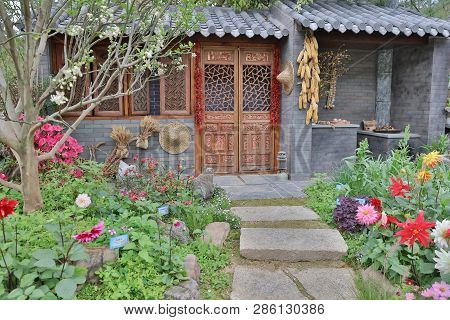 The Classsical Style Of China Garden At Flower Show