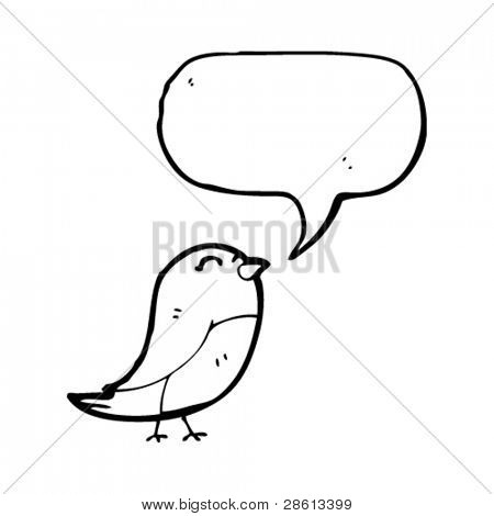 tweeting bird cartoon