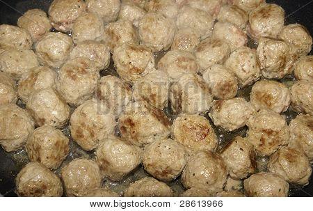 Meatballs Cooking