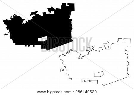 Chula Vista City (united States Cities, United States Of America, Usa City) Map Vector Illustration,