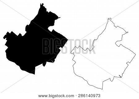 Irvine City (united States Cities, United States Of America, Usa City) Map Vector Illustration, Scri